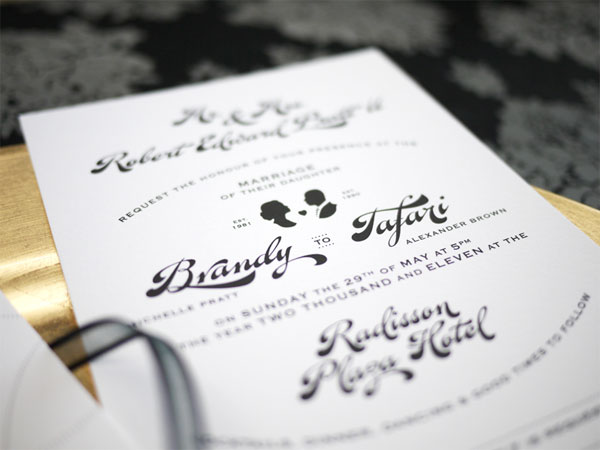 Brandy and Tafari Wedding Invite