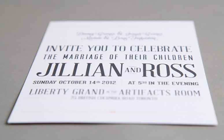 Typographic Wedding Invitation Package