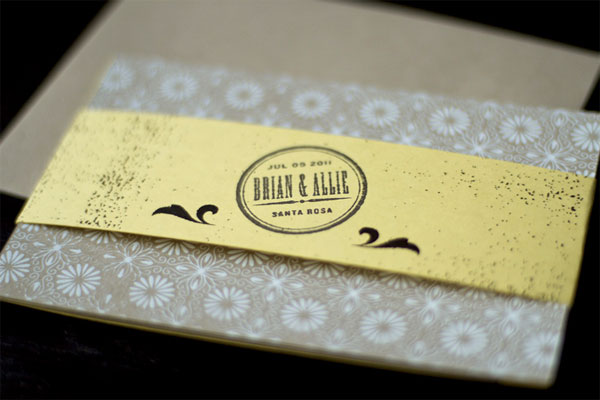 Brian and Allie Wedding Invitation