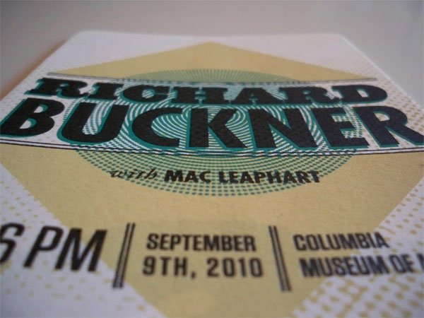 Richard Buckner Concert Ticket
