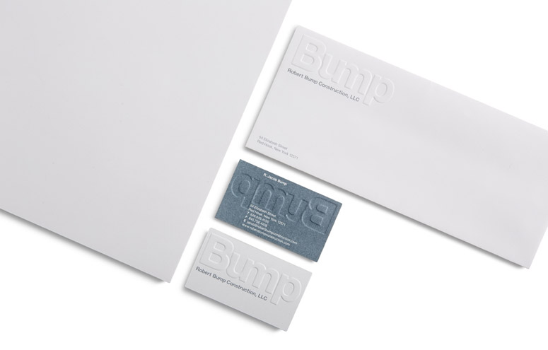 Robert Bump Construction Identity and Stationery System