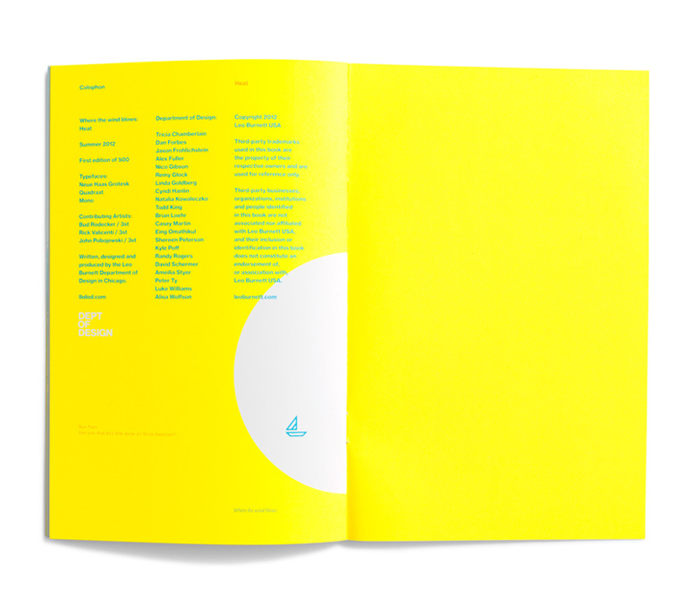 Leo Burnett Dept. of Design Booklet