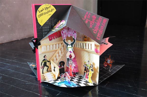 Chandelier Creative Holiday Pop-up Card