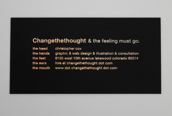Changethethought Business Card