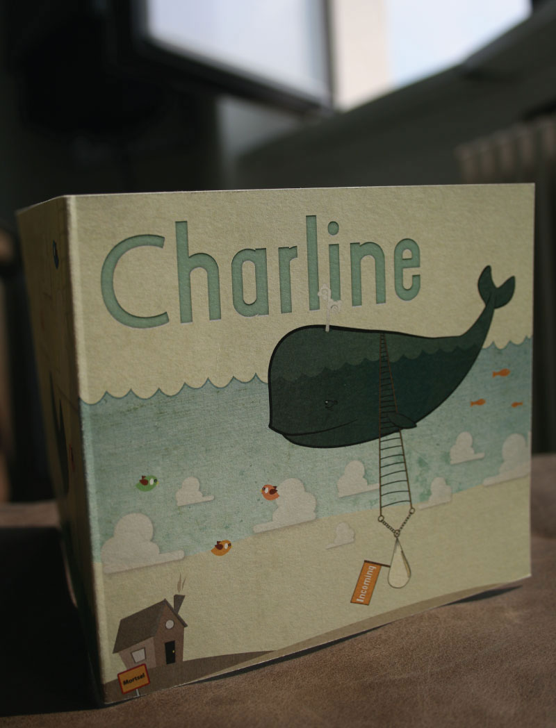 Birth Announcement Card for Baby Charline