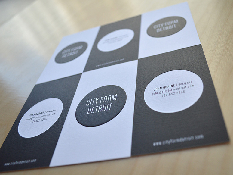 City Form Detroit Business Cards