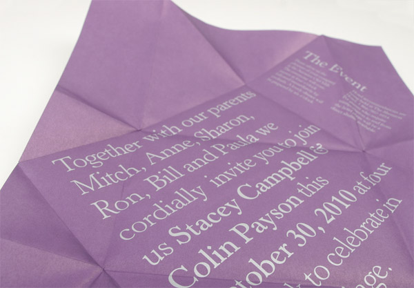 Colin and Stacey Wedding Invitation