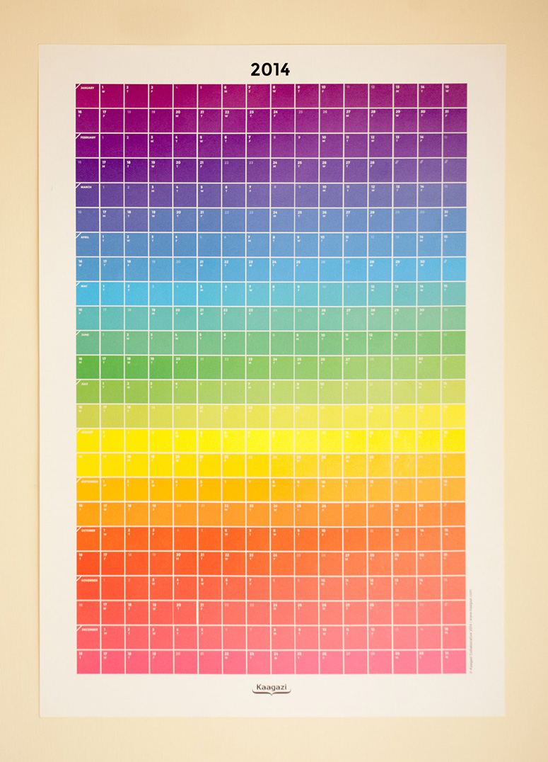 Colour Chart Calendar