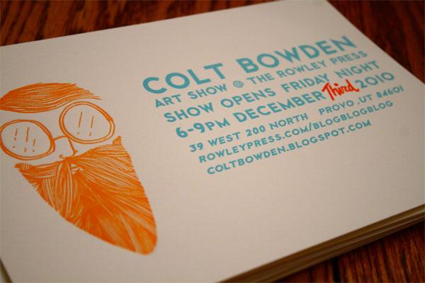 Colt Bowden Invite