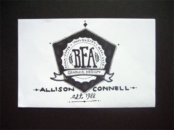 Allison Connell Graduation Announcement