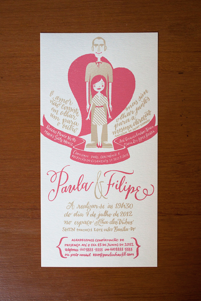 Filipe & Paula wedding invitation