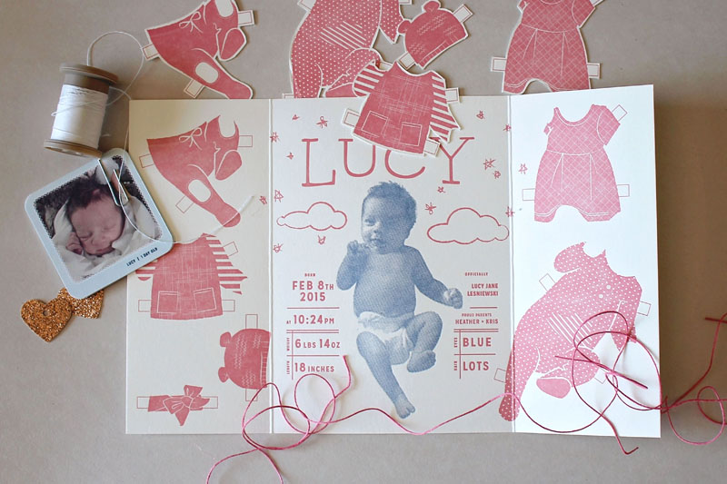 Lucy's Birth Announcement