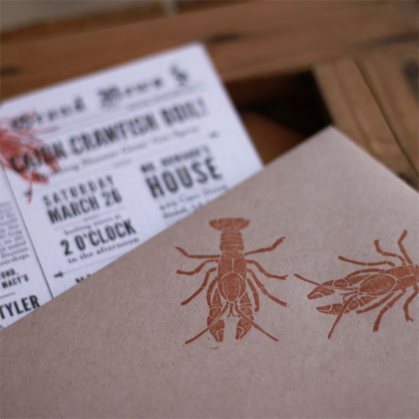 Group Crawfish Boil & Wedding Invitation