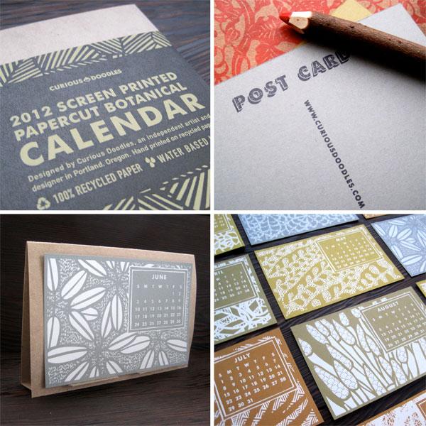 CuriousDoodles Desk Calendar
