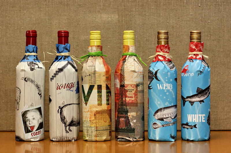 Bottle Gift Wrapping Paper