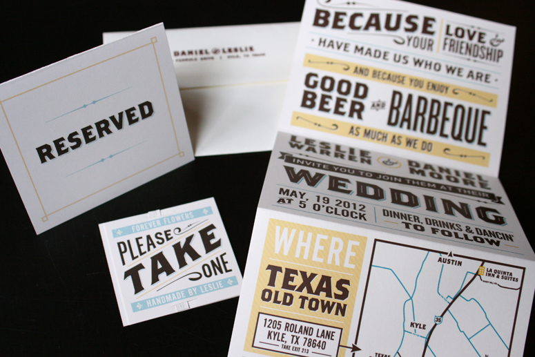 Daniel and Leslie Wedding Invites and Collateral