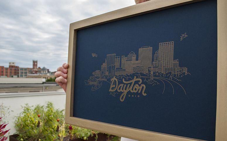 Dayton Skyline Poster