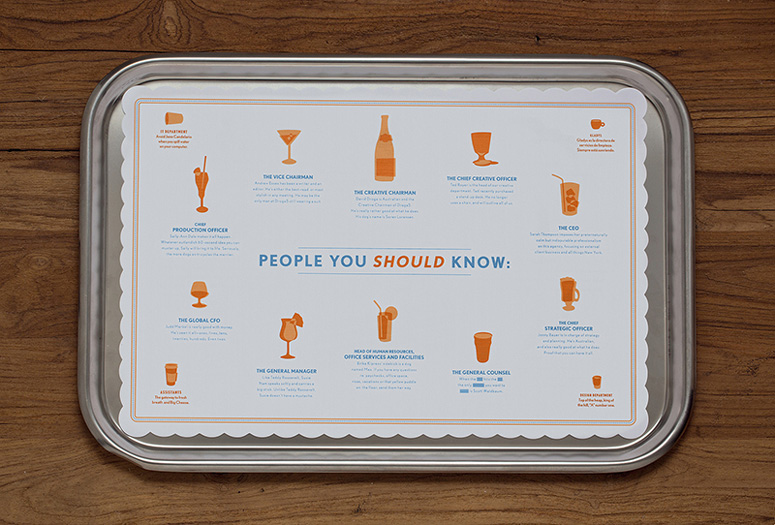 Dinner's Here: Droga5 Placemats and Coasters