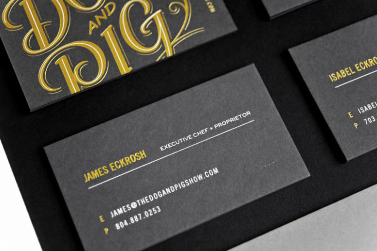 The Dog And Pig Show Business Cards