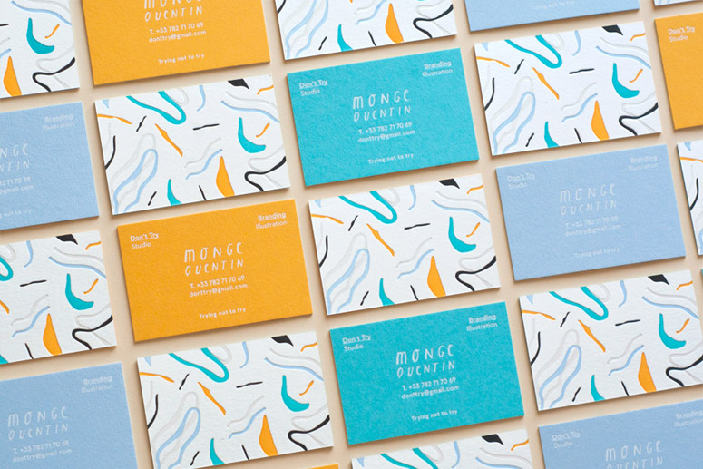 Don't Try Studio Business Cards
