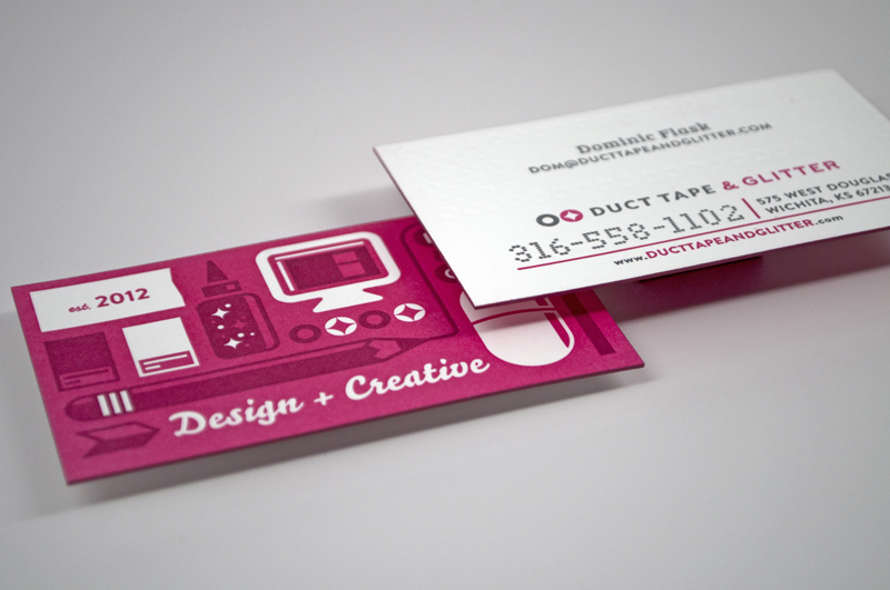 Duct Tape and Glitter Business Cards
