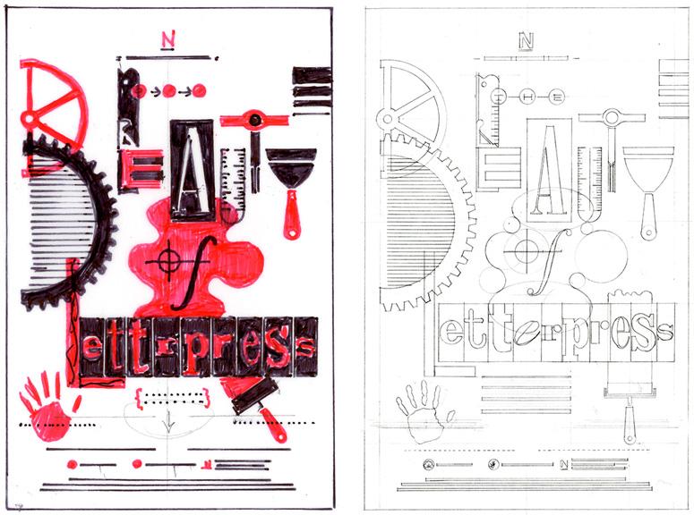 Beauty of Letterpress Print by Earl Gee