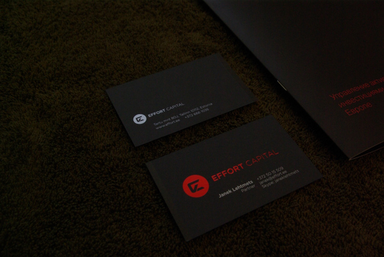 Effort Capital Business Card, Identity materials