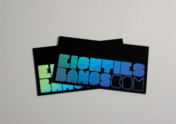 Eighties Bangs Business Cards