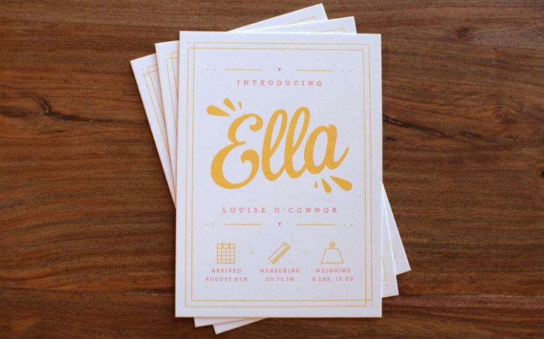 Ella's Birth Announcement
