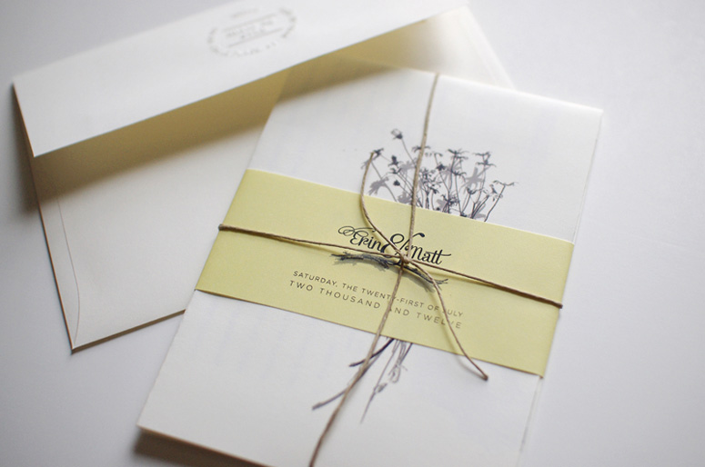 Erin and Matt Wedding Invitation
