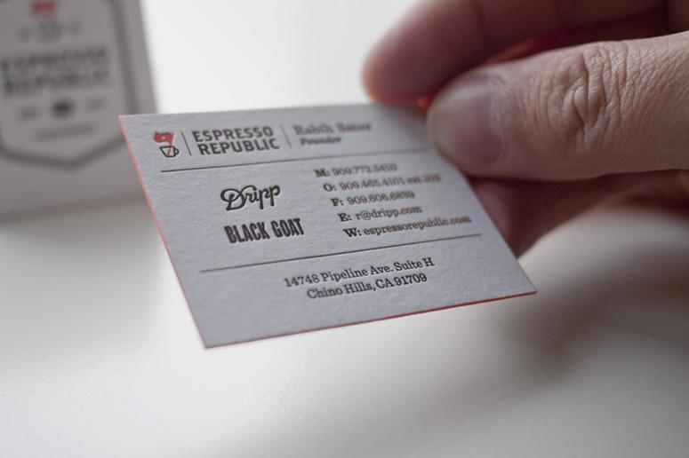 Espresso Republic Business Cards