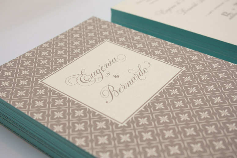 Eugenia & Bernardo Wedding Invitation