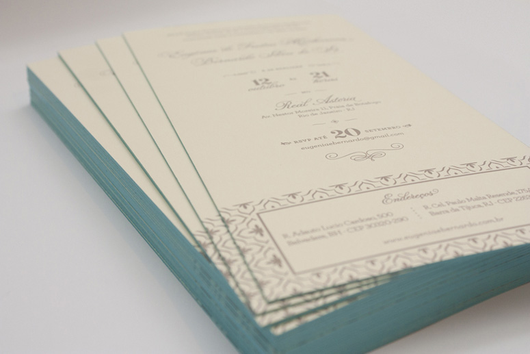 Eugenia & Bernardo Wedding Invitation