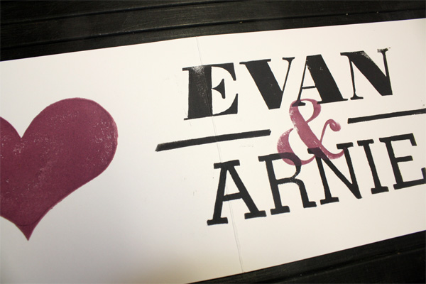 Arnie & Evan Wedding Invitation