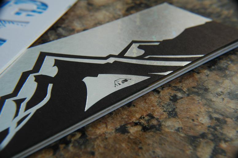 Event Crashers Letterpress Self Promo Piece
