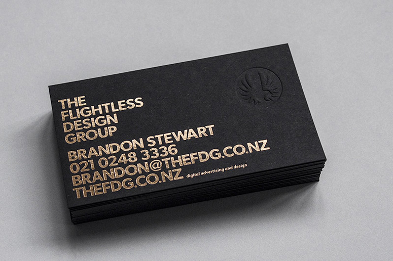 The Flightless Design Group Business Card