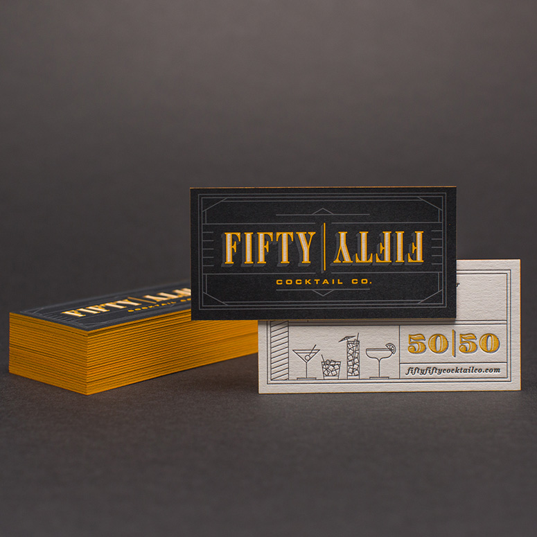 Fifty Fifty Cocktail Co. Business Cards
