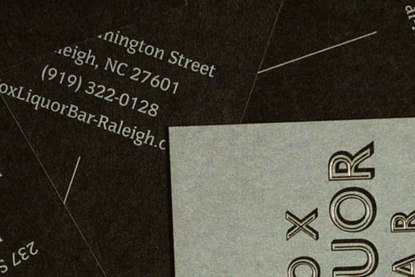 Fox Liquor Bar Business Card