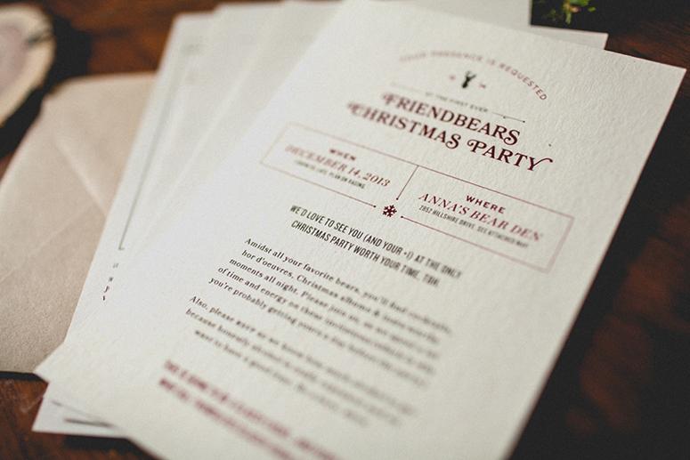 Friendbears Holiday Invite