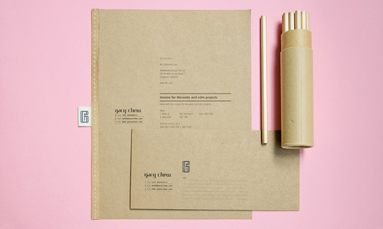 Gary Chew Branding and Stationery Items Design