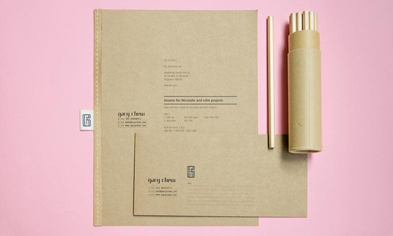 Gary Chew Branding and Stationery Items Design