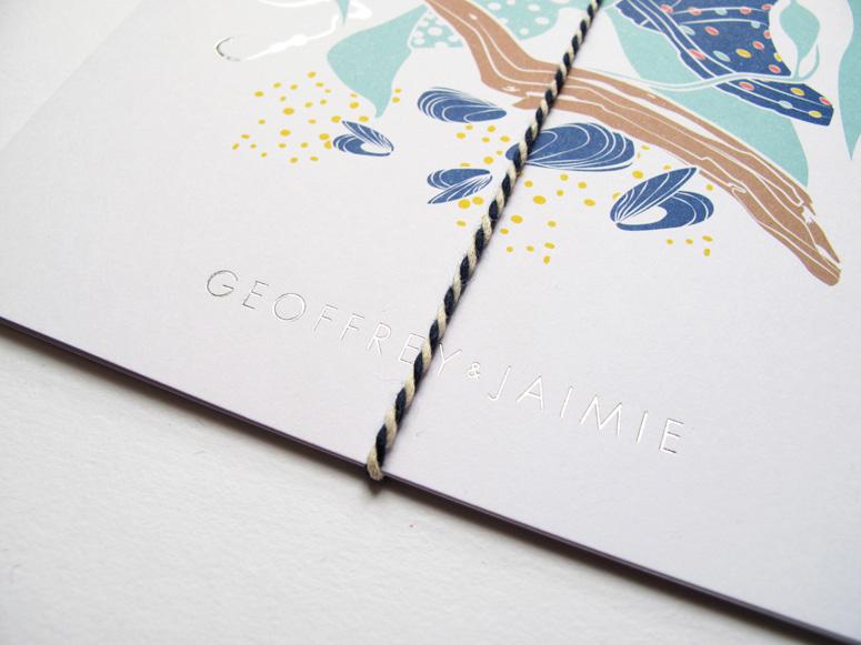 Geoff and Jaimie Wedding Invitations