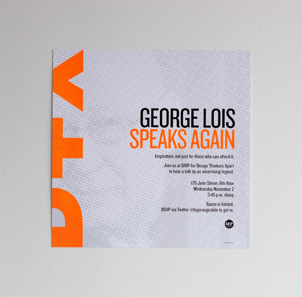 George Lois Event Materials