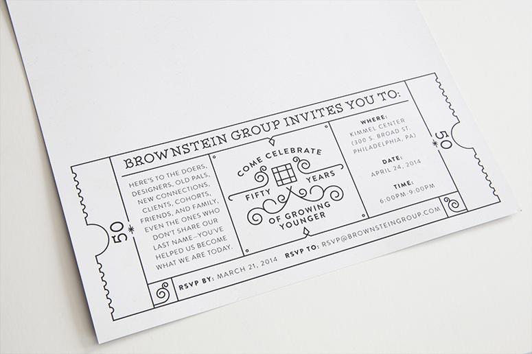 Brownstein Group 50th Anniversary Invitation