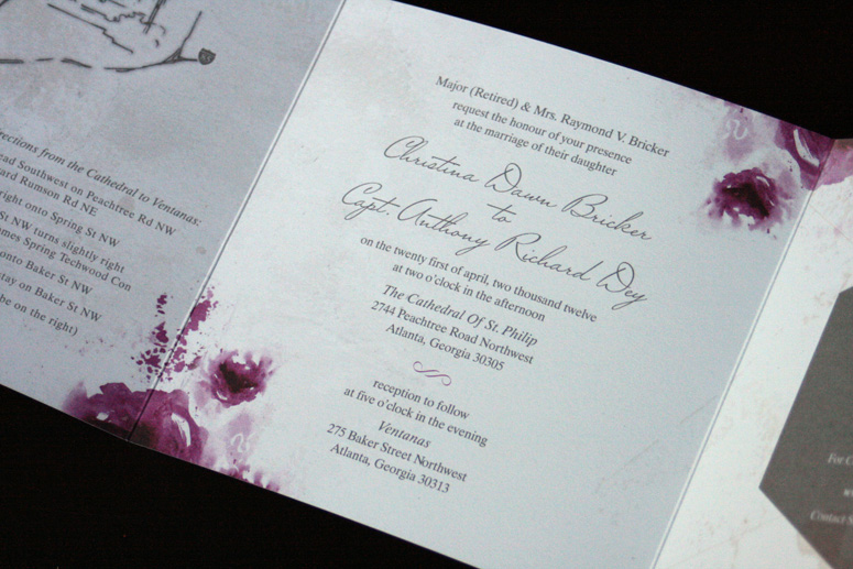 Grey Love Wedding Invitation