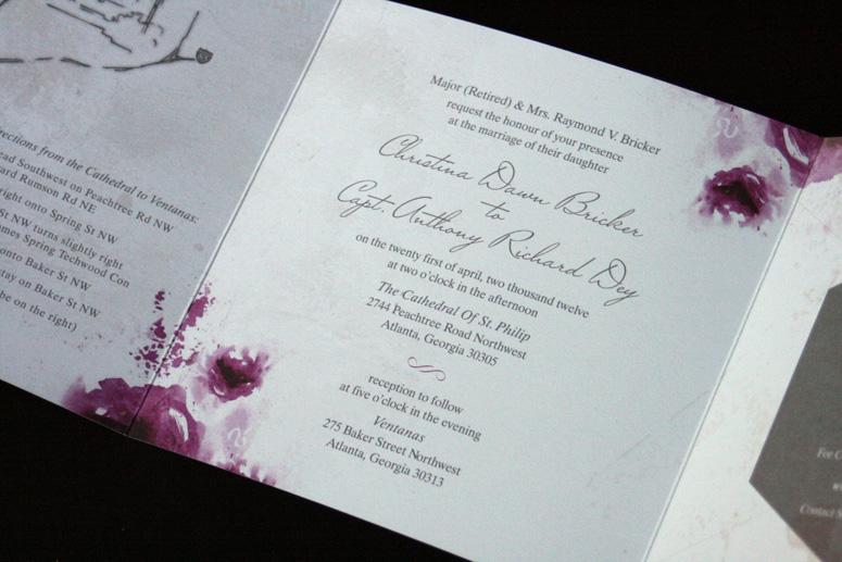 Grey Love Wedding Invitation