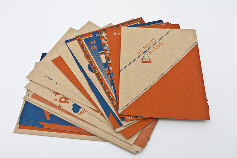 Grilli Type Lithography ABC Postcards