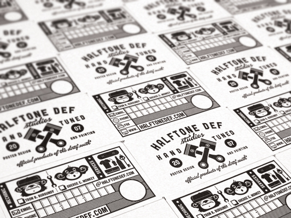 Halftone Def Business Cards