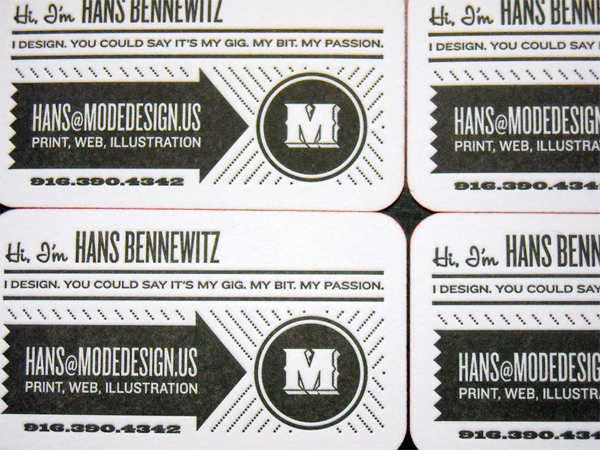 Hans Bennewitz Business Card