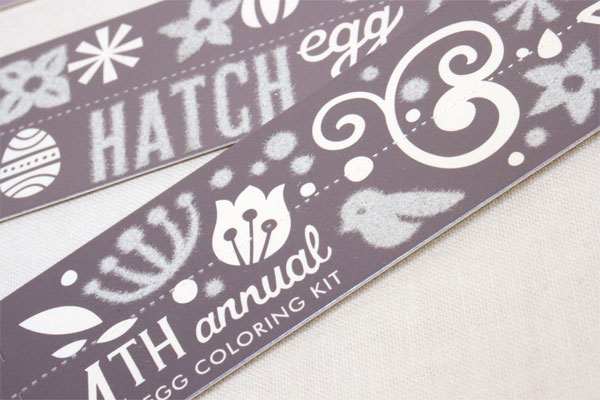 Hatch Design Easter Egg Coloring Kit